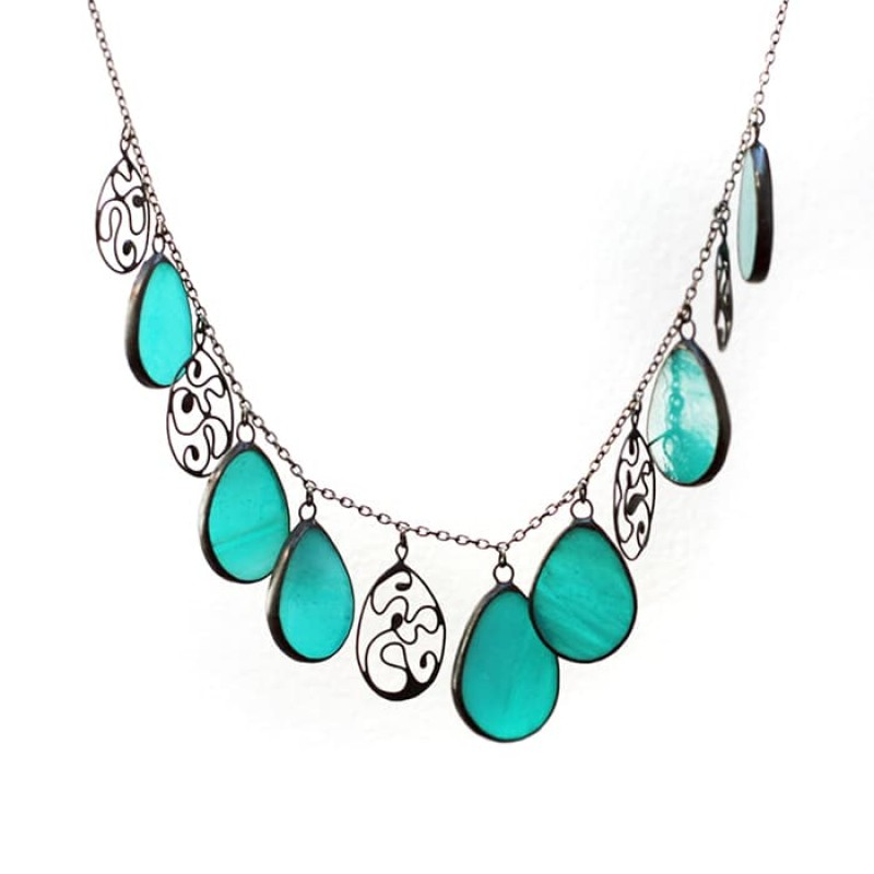 Turquoise Drops Statement Necklace