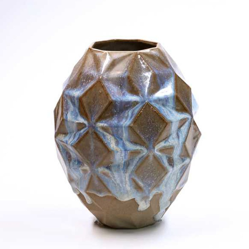 Blue Over Speckled Vase