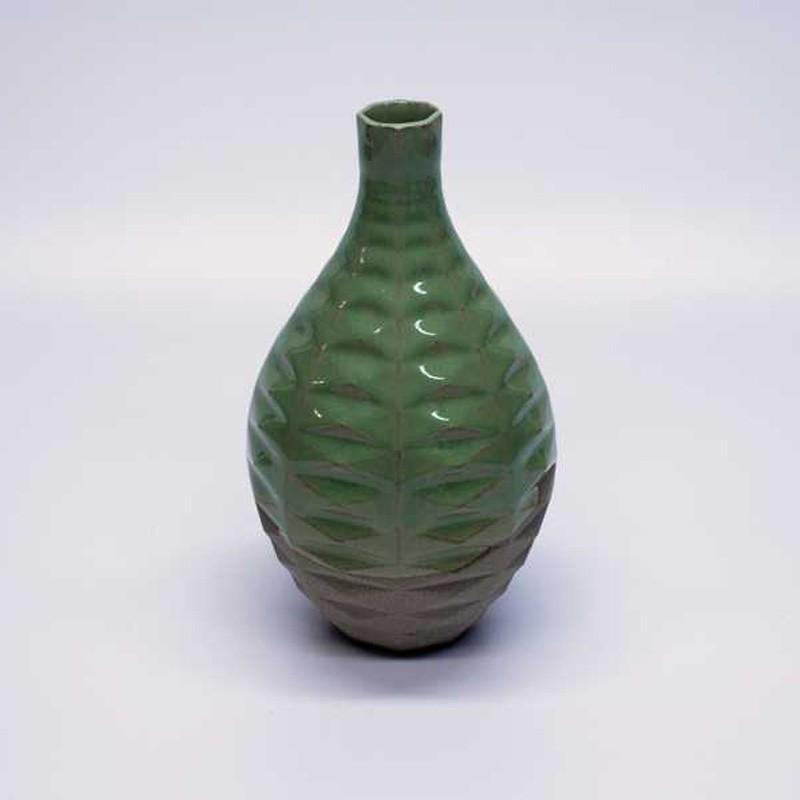 8-16 Bright Green Vase