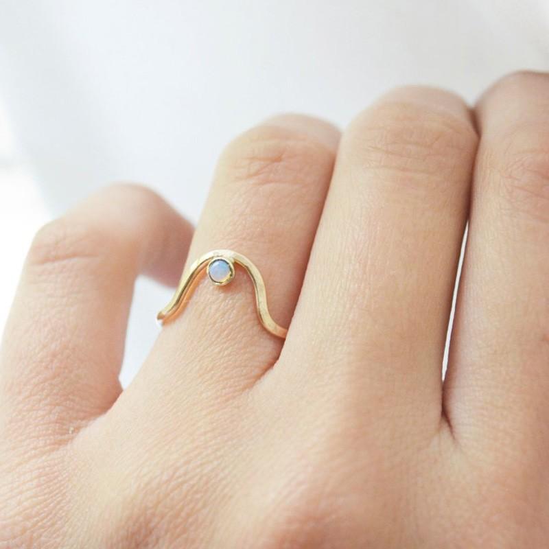Handmade Centered Opal Ring