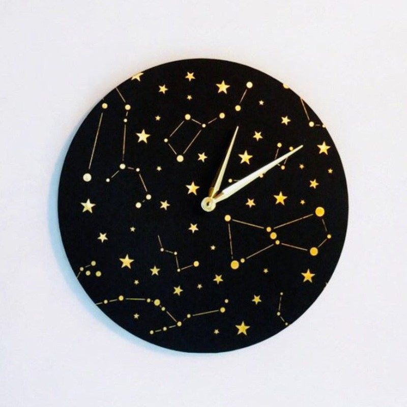 Gold Constelllation Zodiac Clock