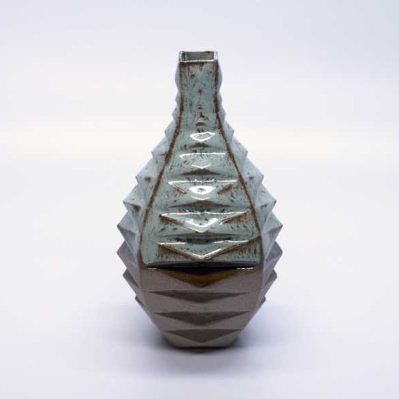 4-12 Mint & Chestnut Vase