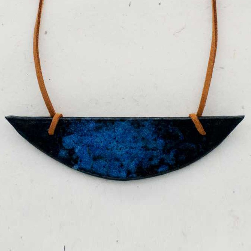 Blue Patterned Pendant