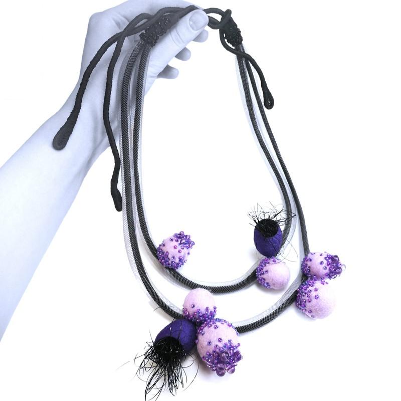 Unique handmade lavender Fields necklace