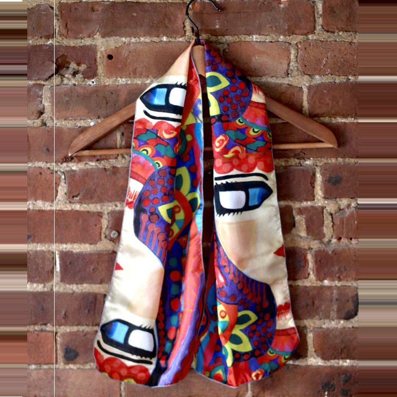 Colourful Customised Silk Scarf
