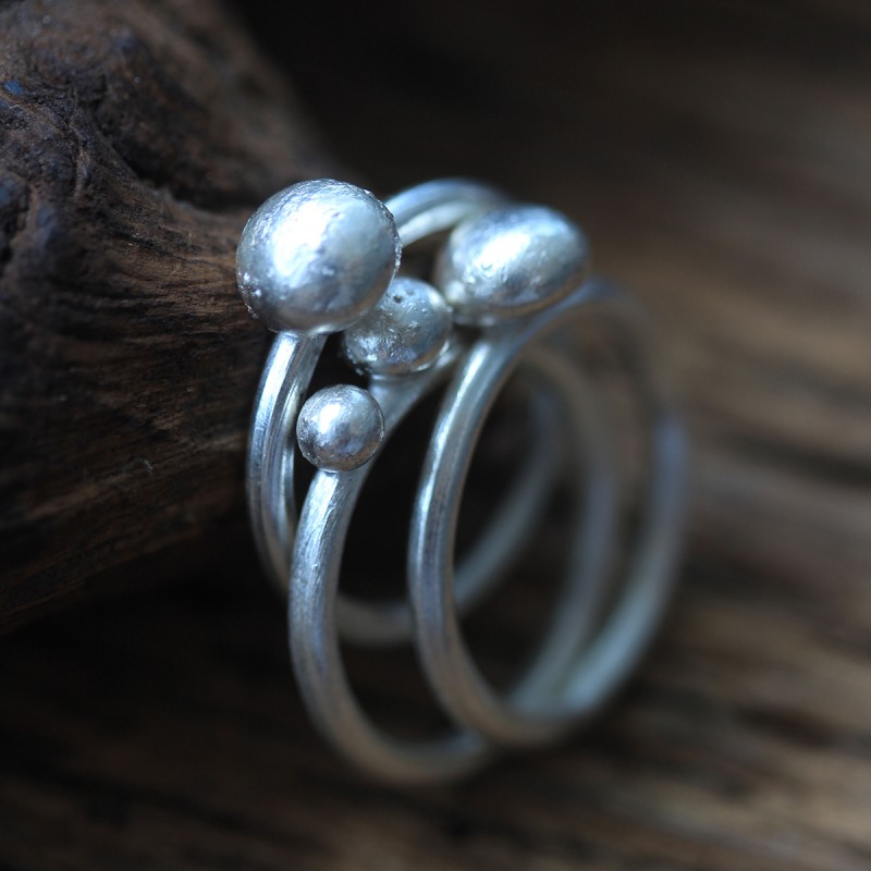 The Style Stack Silver Rings Set
