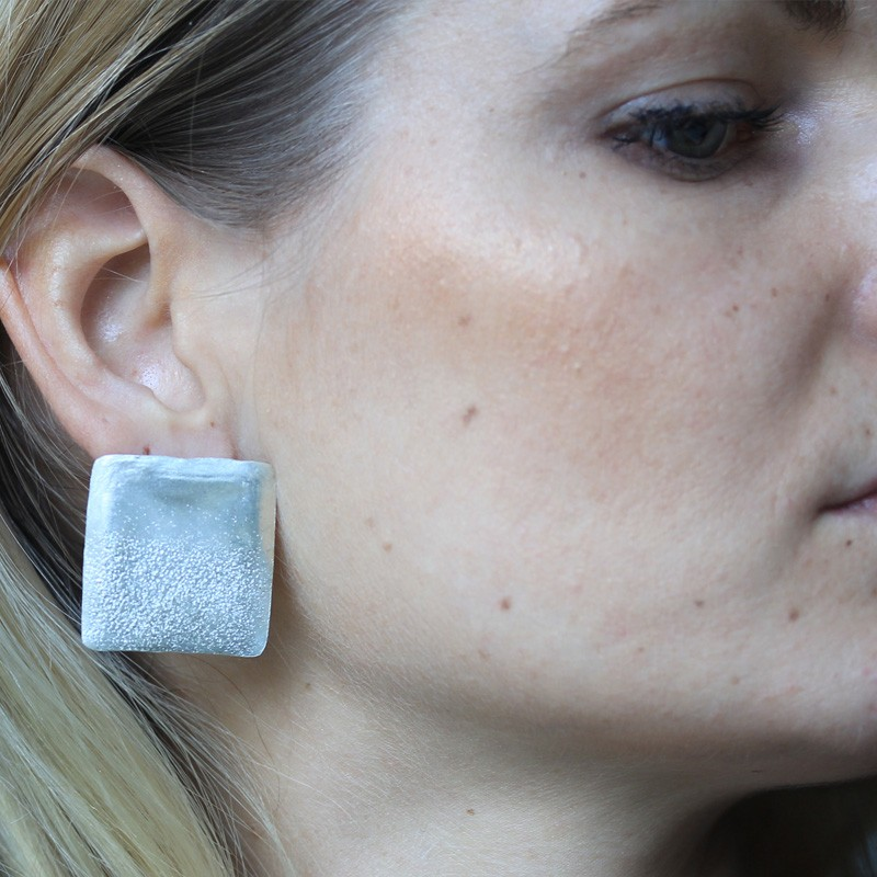 Textured Silver Studs