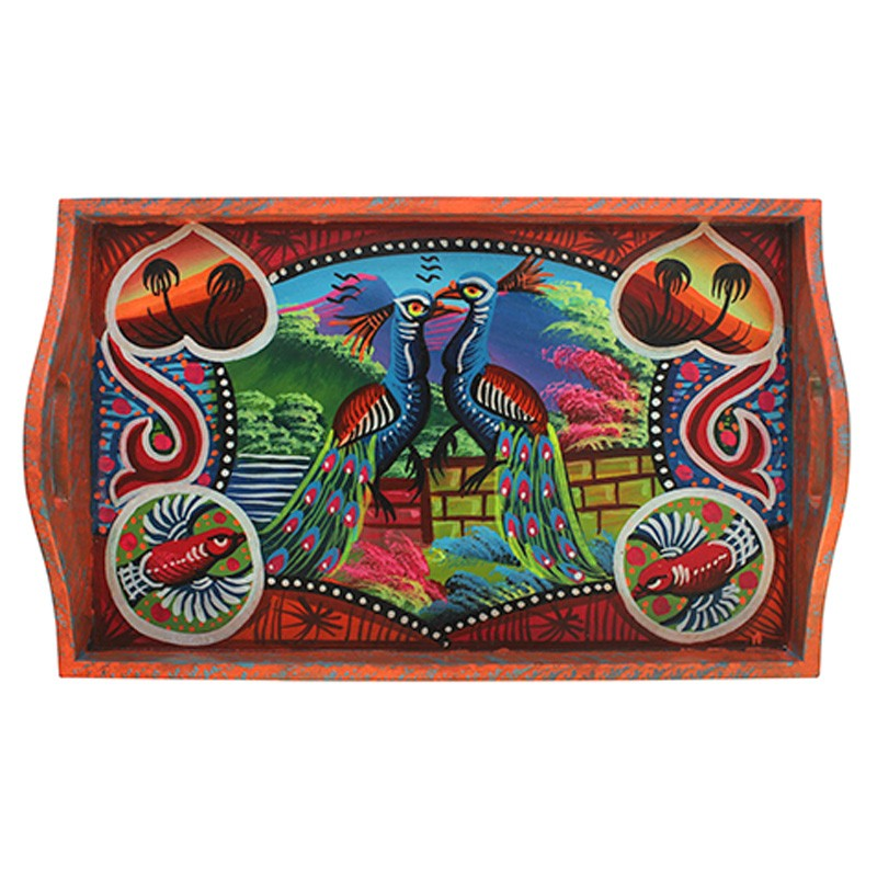 Handmade and Hand Painted Decorative Wooden Trays