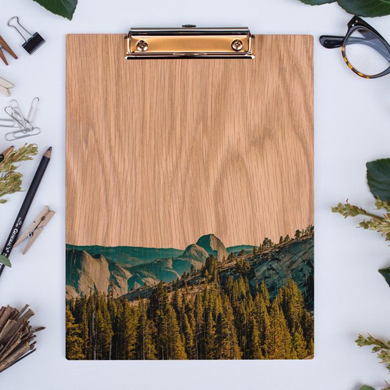 Wood Clipboard featuring Yosemite Half Dome in the US National Parks in California