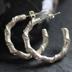 Silver Twisted Loopy Earrings