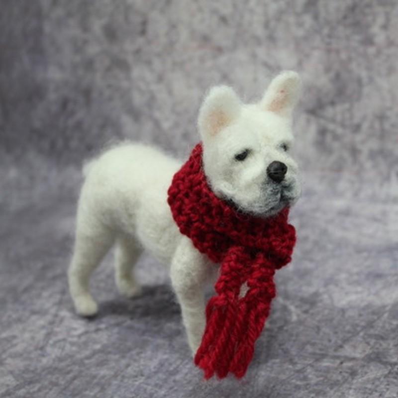 Lifelike Fibre and Wool Dog