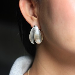 Cananga Silver Flower Earrings