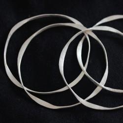 Silver Twist Bangles