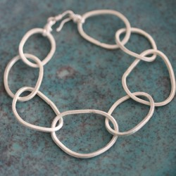 Silver Oval Loopy Bracelet