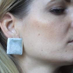 Textured Silver Studs