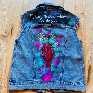 """Flowers"" Handpainted Jacket"