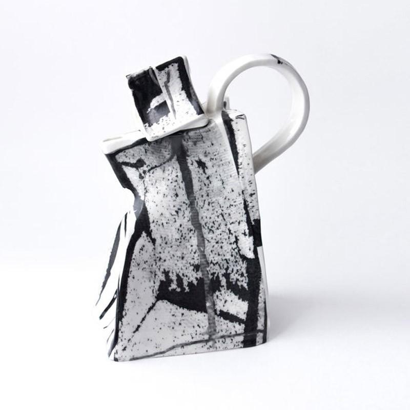 Black and White Porcelain Teapot