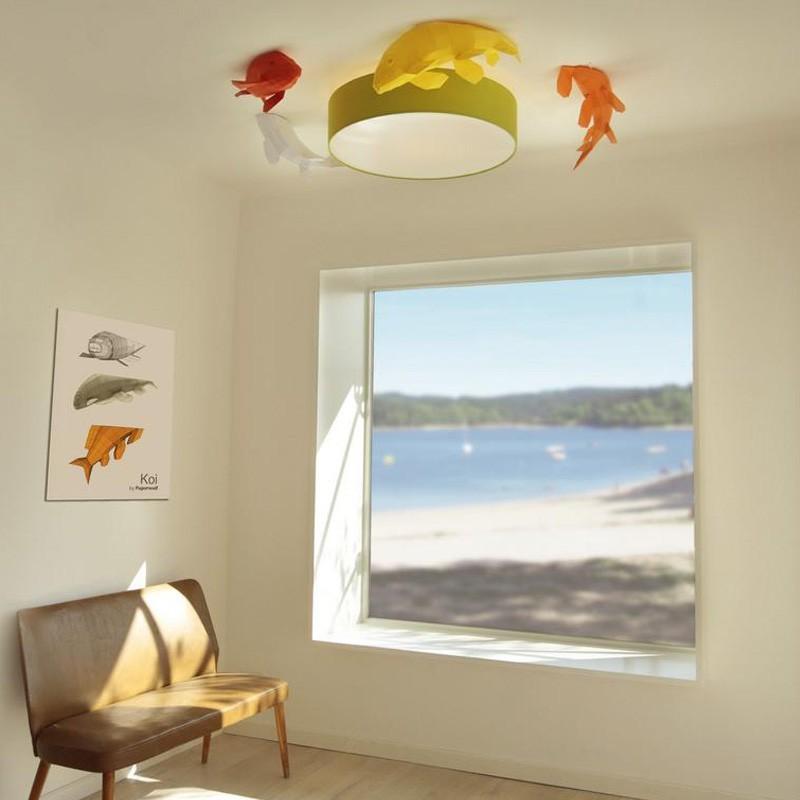 Ceiling Kois - Fish shoal, Papercraft Kit (4 Fishes)