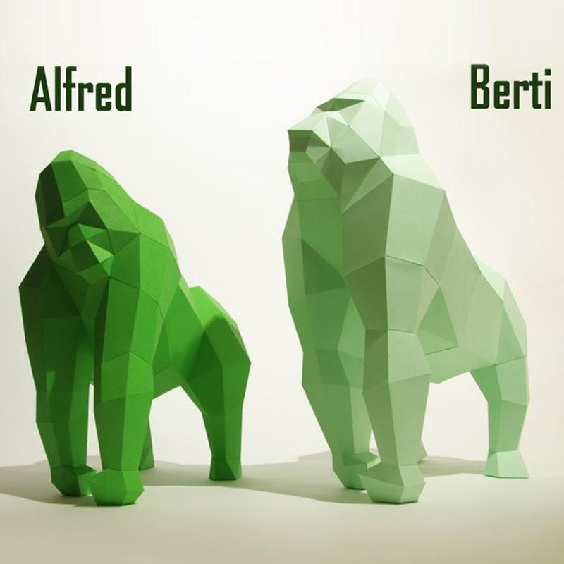 Papersculpture Gorilla
