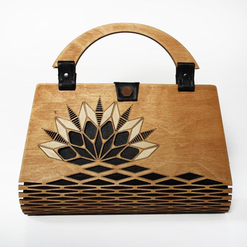 Cherry Wood Handbag