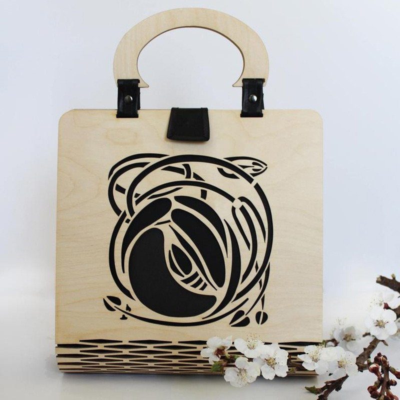 Art Nouveau Wooden Handbag
