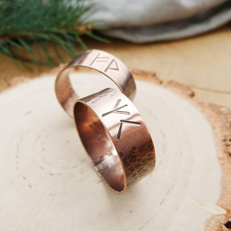 Viking Rustic Rune Ring