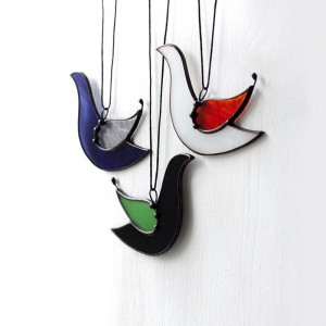 Stained Glass Bird Suncatcher