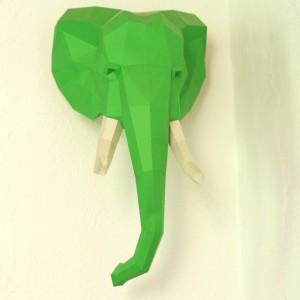 Paper Trophy Elephant