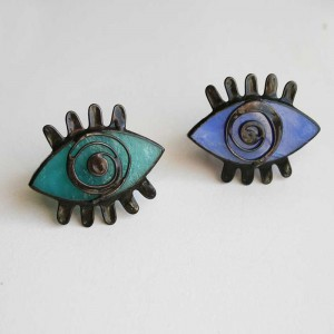 Evil Eye Stained Glass Cocktail Ring