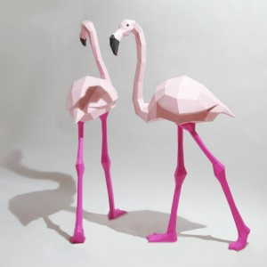 Flamingo Papercraft Kit