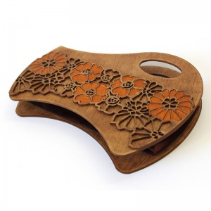 Unique Wooden Floral Handbag