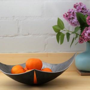 Sculptural Iron Bowl