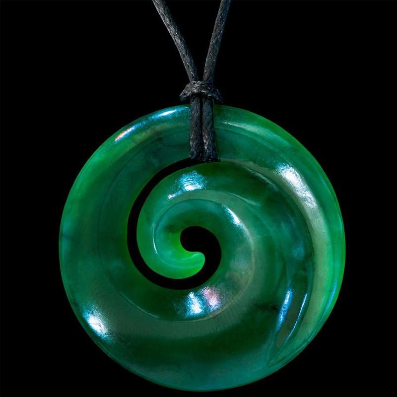 Handcrafted Jade Single Koru Necklace