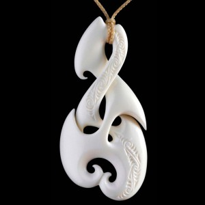 Handcrafted Pikorua Bone Carving Necklace