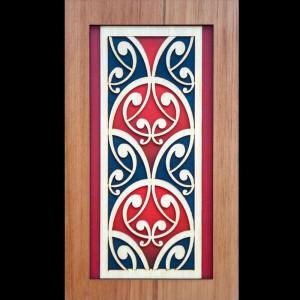 Wooden Maori Koiri Wall Art