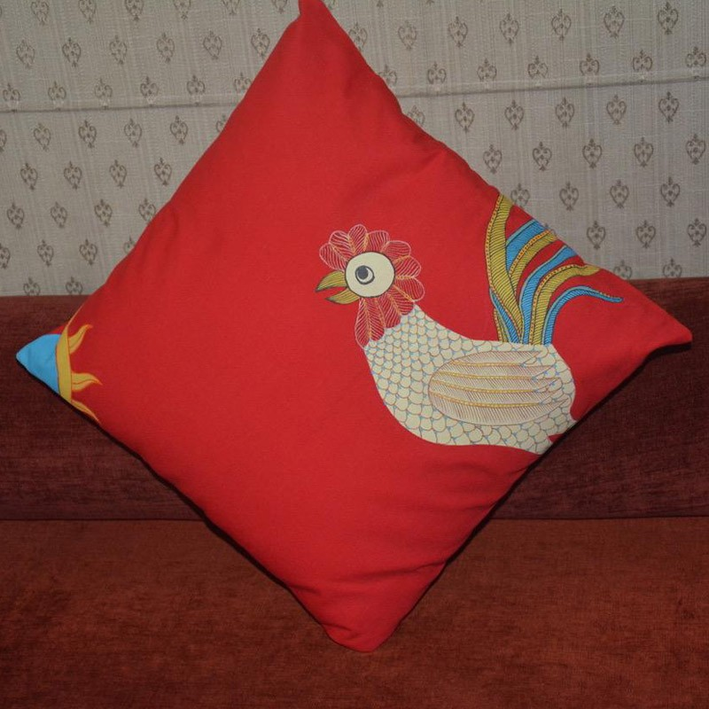 Gond Handpainted Cushion Cover