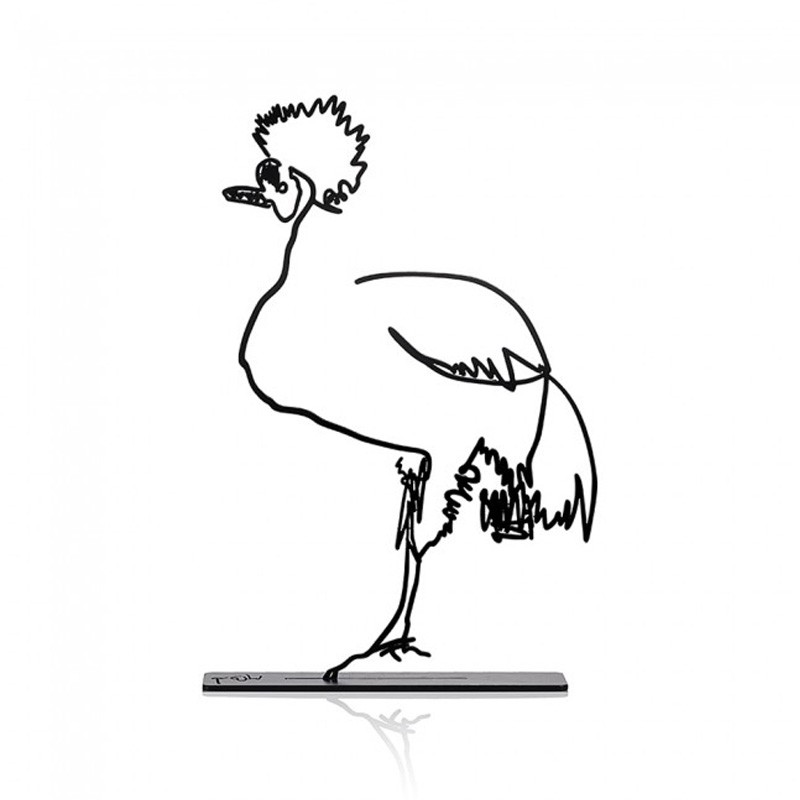 Wanetik Art - Crowned Crane Metal Sculpture