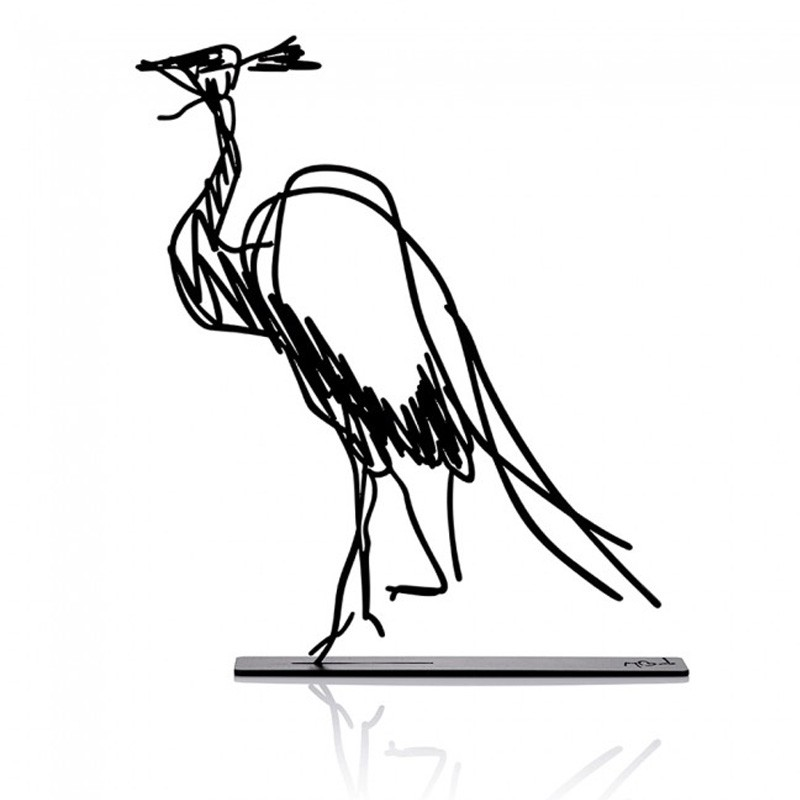 Wanetik Art - Demoiselle Crane Metal Sculpture