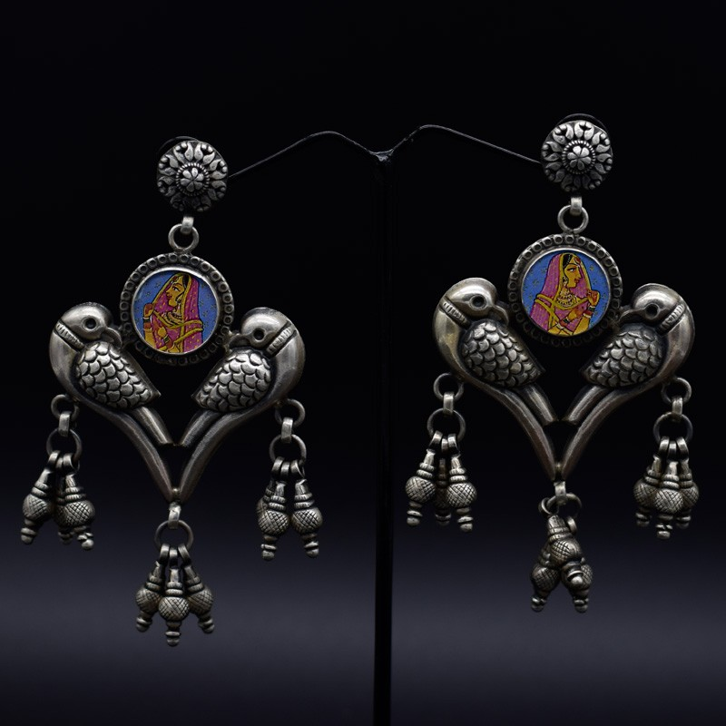 Handmade traditional chokar earrings