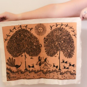 Warli Tribal Painting on Cloth
