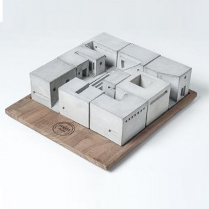 Miniature Concrete Homes - Complete Set