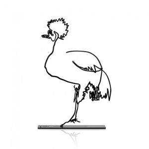 Wanetik Art - Crowned Crane Metal Sculpture