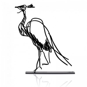 Wanetik Art - Demoiselle Crane Metal Sculpture