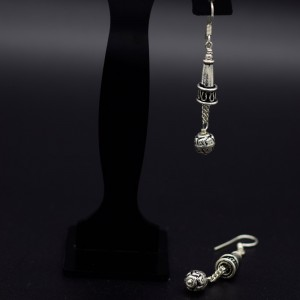Handmade traditional silver earrings