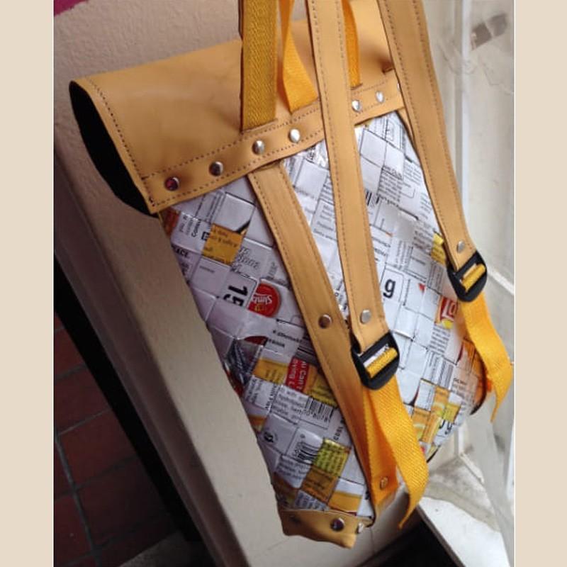 Upcycled Medium Backpack