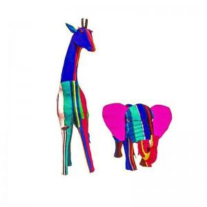 Flip Flop Recycled Elephant & Giraffe Set