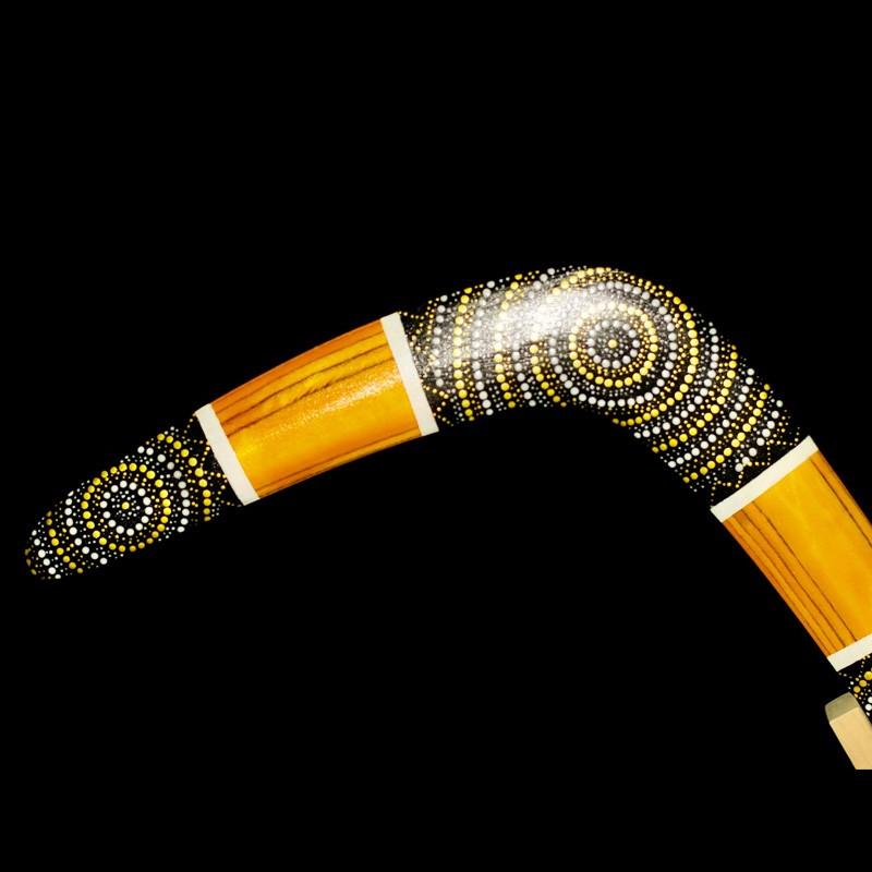 Handcrafted Golden Sun Boomerang