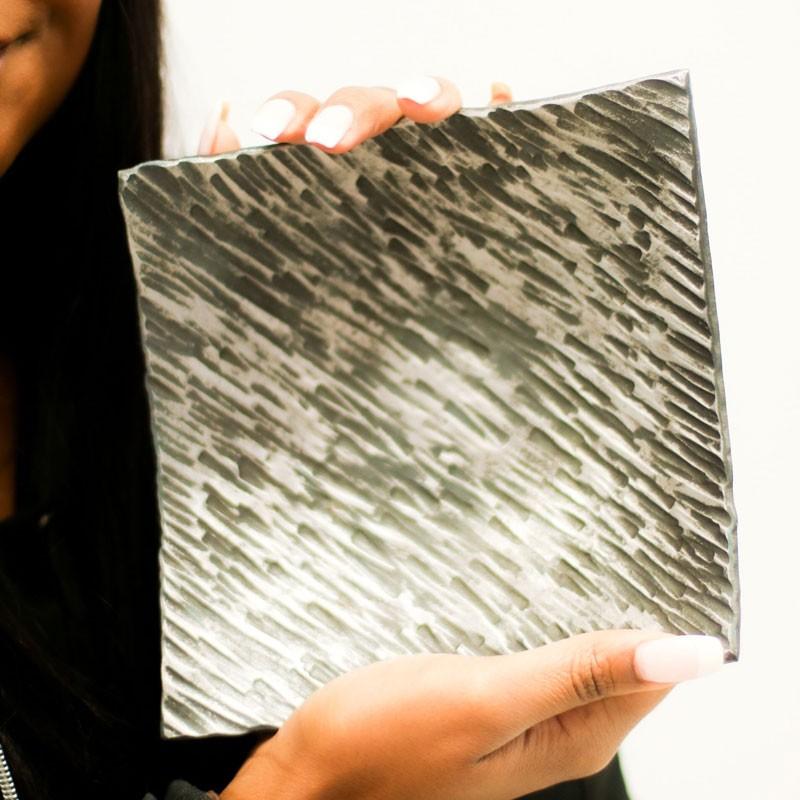 Textured Square Iron Ring Dish