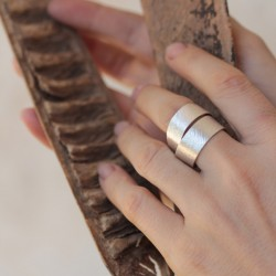 Infinity Wrapped Silver Ring