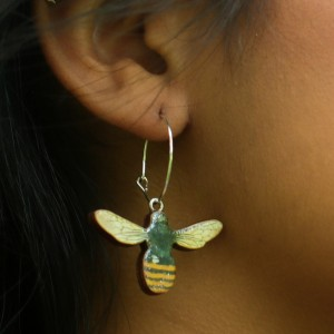 Bees Statement Earrings
